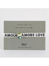 Bracelet message Her - Amore n°1