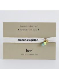 Bracelet message Her - Amour à la plage n°1