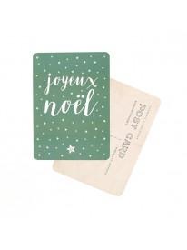 Carte postale - Joyeux Noël - Green