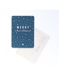 Carte postale - Merry Christmas - Bleu nuit
