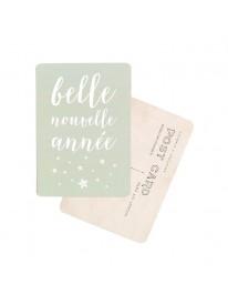 Carte postale - Belle Nouvelle Année - Smoke green